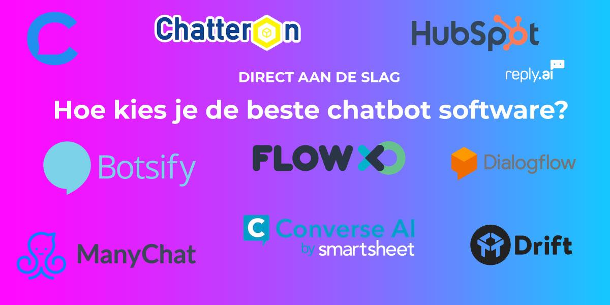 Hoe kies je de beste chatbot software?
