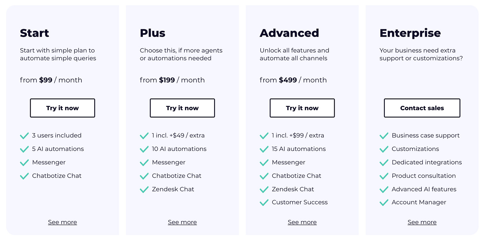 chatbotize-pricing