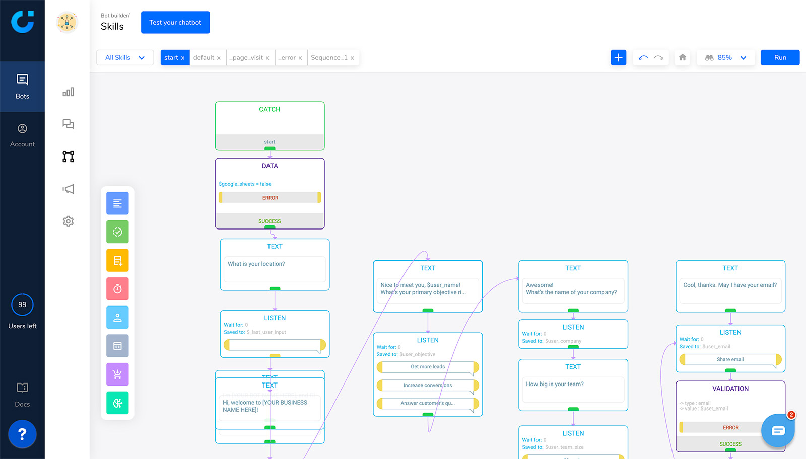 activechat-visual-flow-builder