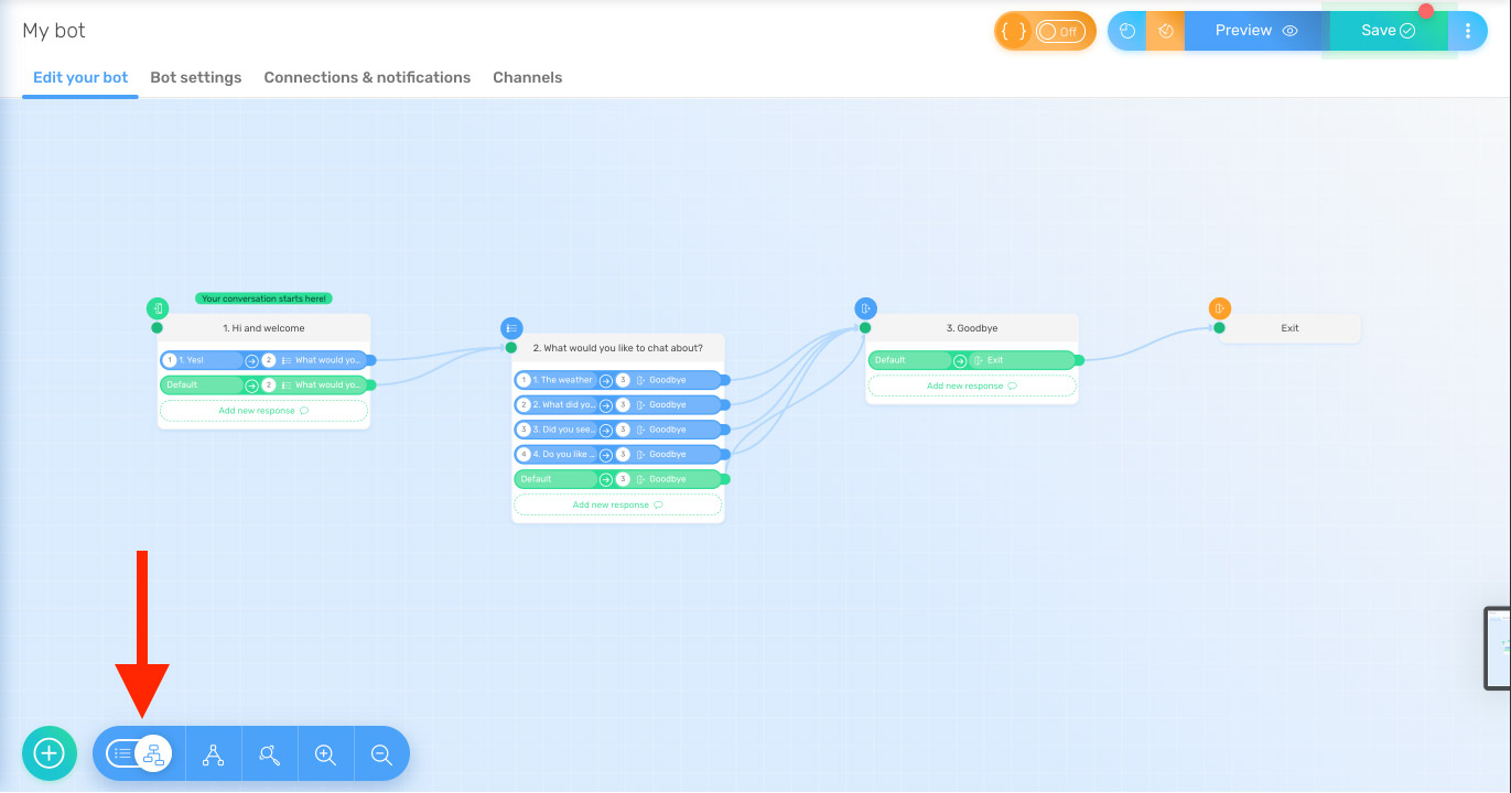 quriobot-visual-flow-builder