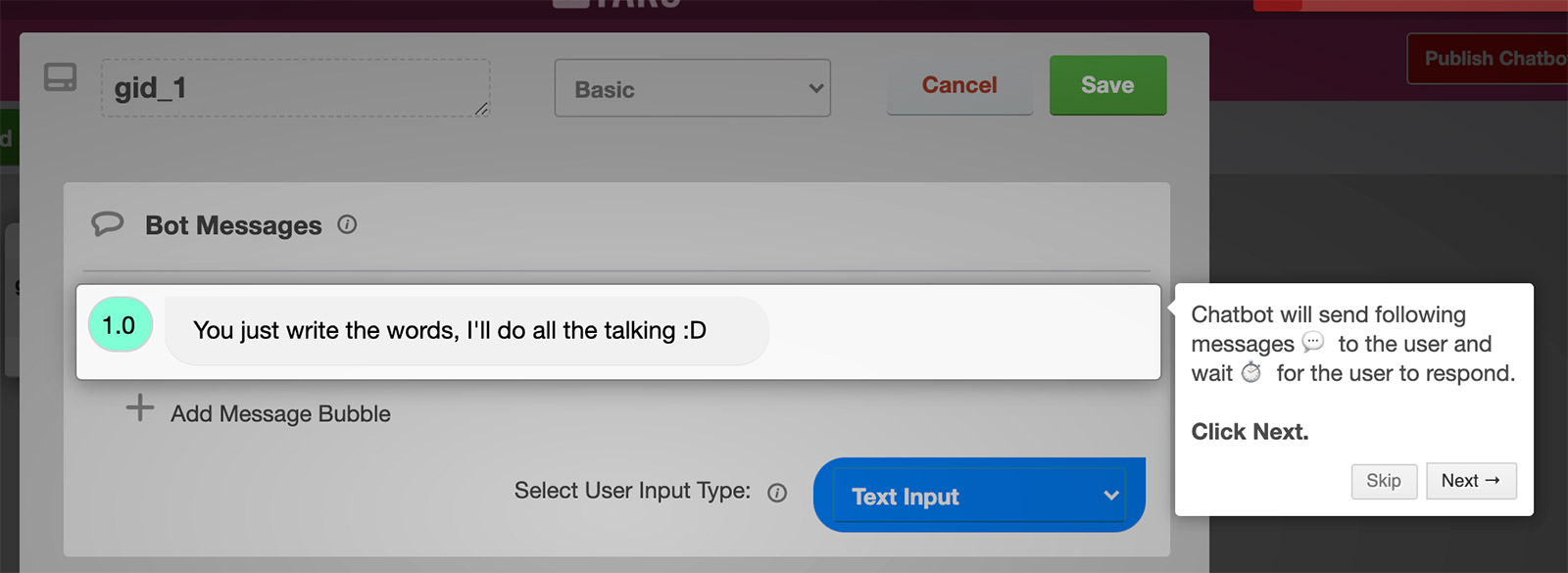 tars-bot-message